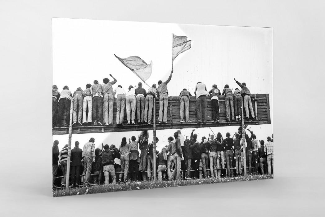 Braunschweig Fans 1981 als Direktdruck auf Alu-Dibond hinter Acrylglas