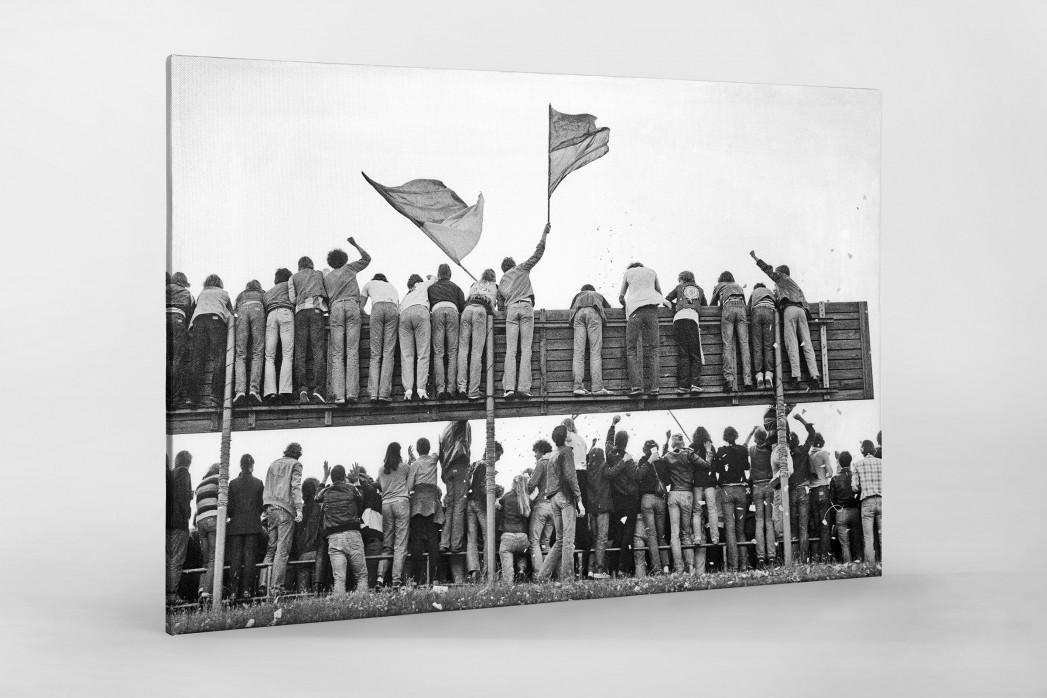 Braunschweig Fans 1981 als Leinwand auf Keilrahmen gezogen