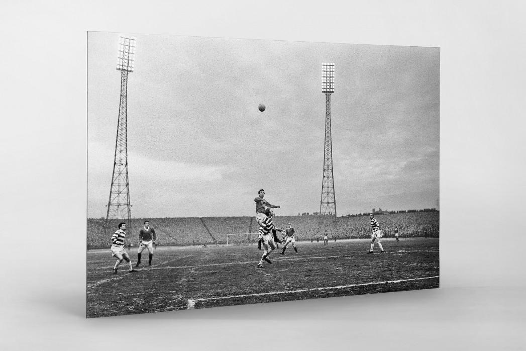 Rangers vs. Celtic 1968 als auf Alu-Dibond kaschierter Fotoabzug