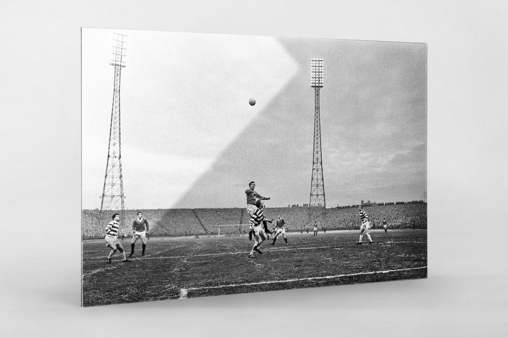 Rangers vs. Celtic 1968 als Direktdruck auf Alu-Dibond hinter Acrylglas