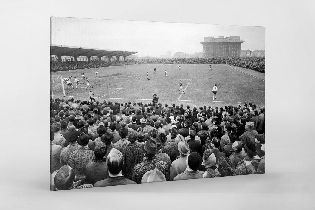 Millerntor Stadion 1966 als Leinwand auf Keilrahmen gezogen