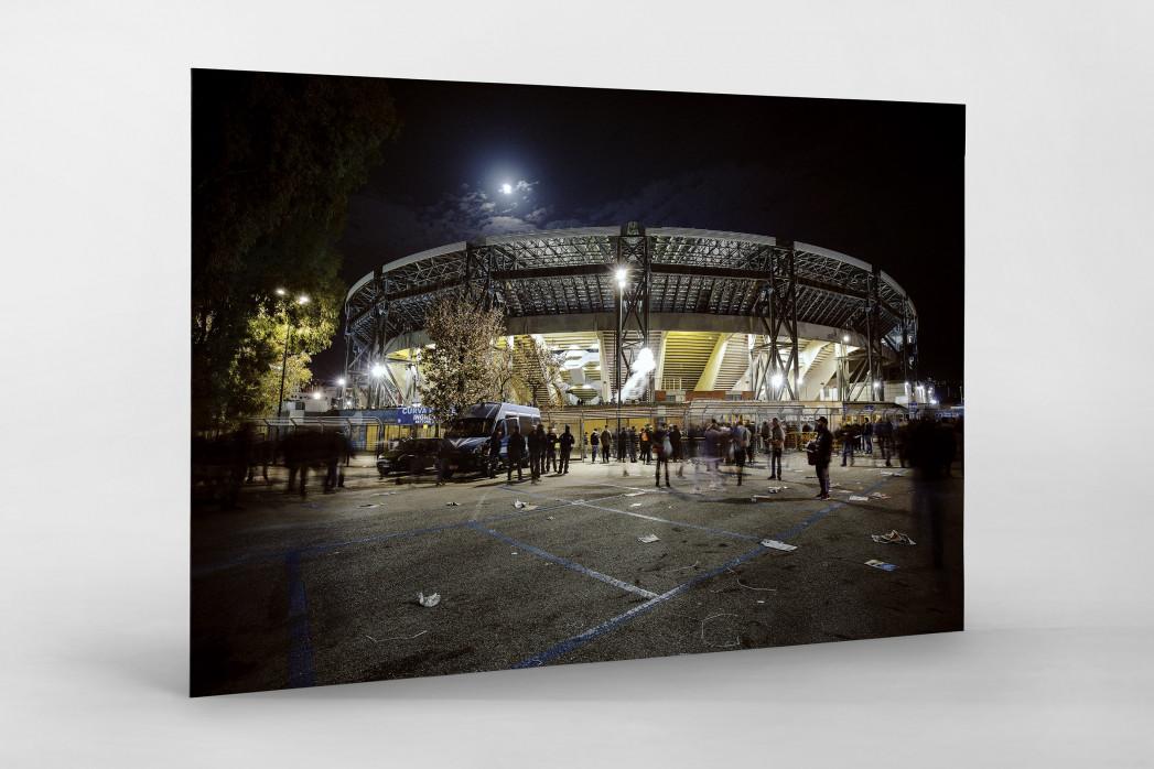 Stadio San Paolo bei Flutlicht (Farbe) als auf Alu-Dibond kaschierter Fotoabzug