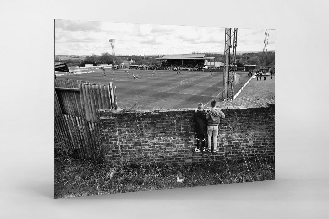 Blick über die Mauer als auf Alu-Dibond kaschierter Fotoabzug
