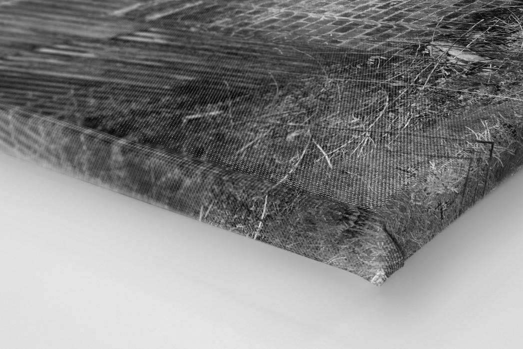 Blick über die Mauer als Leinwand auf Keilrahmen gezogen (Detail)