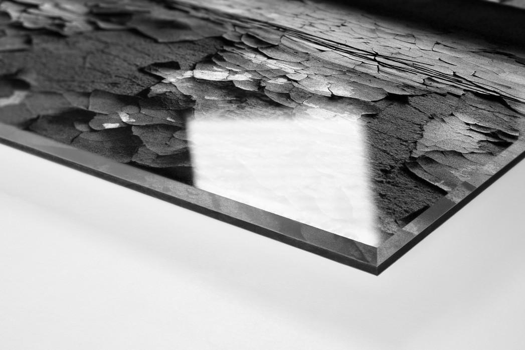 Der isolierte Torwart als Direktdruck auf Alu-Dibond hinter Acrylglas (Detail)