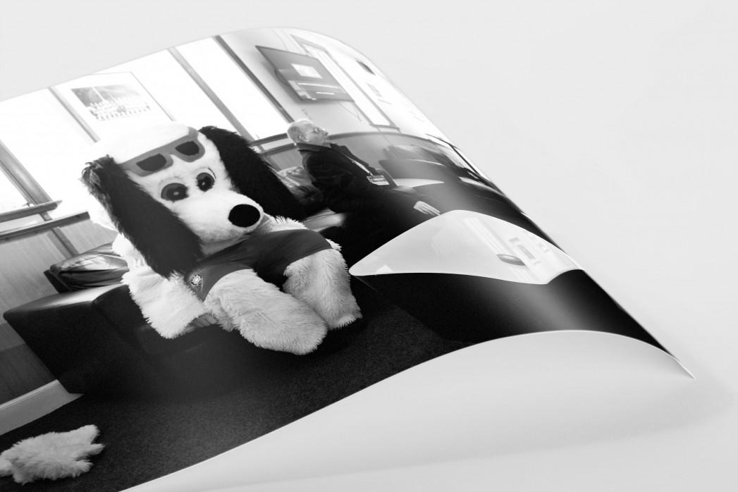 Melancholisches Maskottchen als FineArt-Print