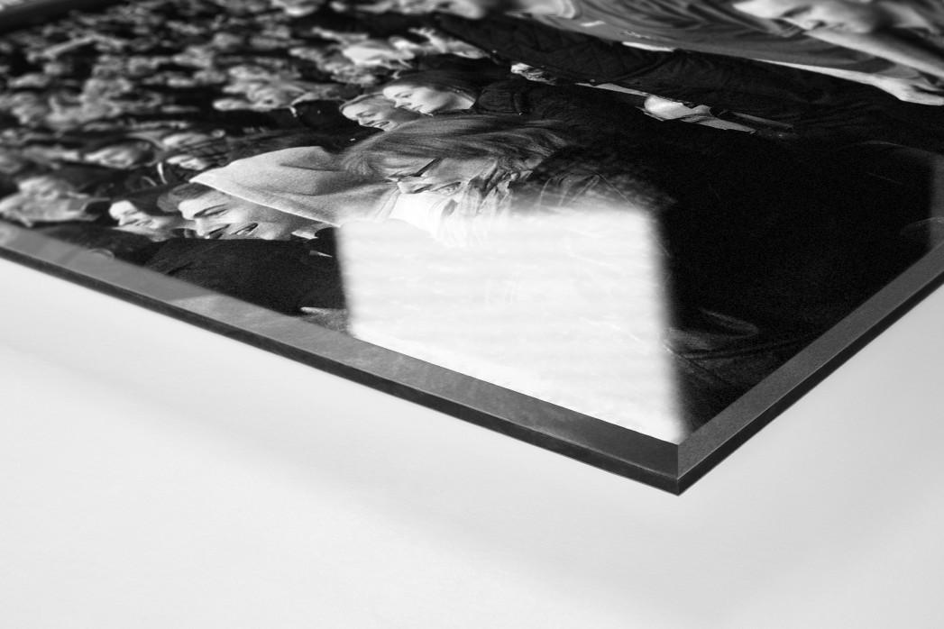 Unerwarteter Jubel als Direktdruck auf Alu-Dibond hinter Acrylglas (Detail)