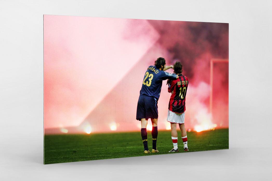Materazzi, Rui Costa und der Rauch als Direktdruck auf Alu-Dibond hinter Acrylglas