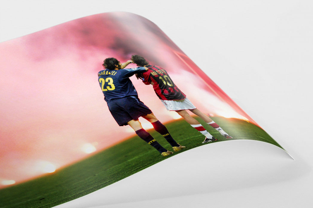 Materazzi, Rui Costa und der Rauch als FineArt-Print