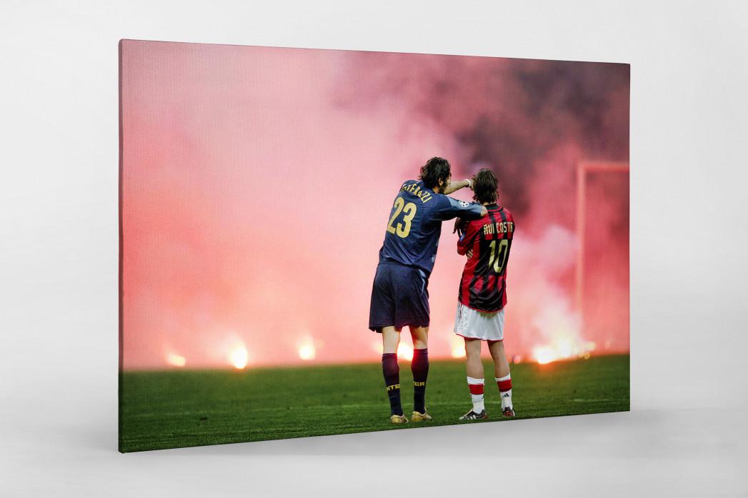 Materazzi, Rui Costa und der Rauch als Leinwand auf Keilrahmen gezogen