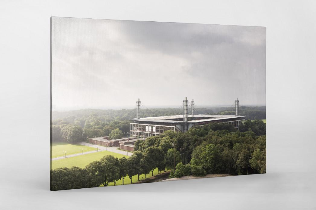 Blick auf die Kölner Arena als Leinwand auf Keilrahmen gezogen