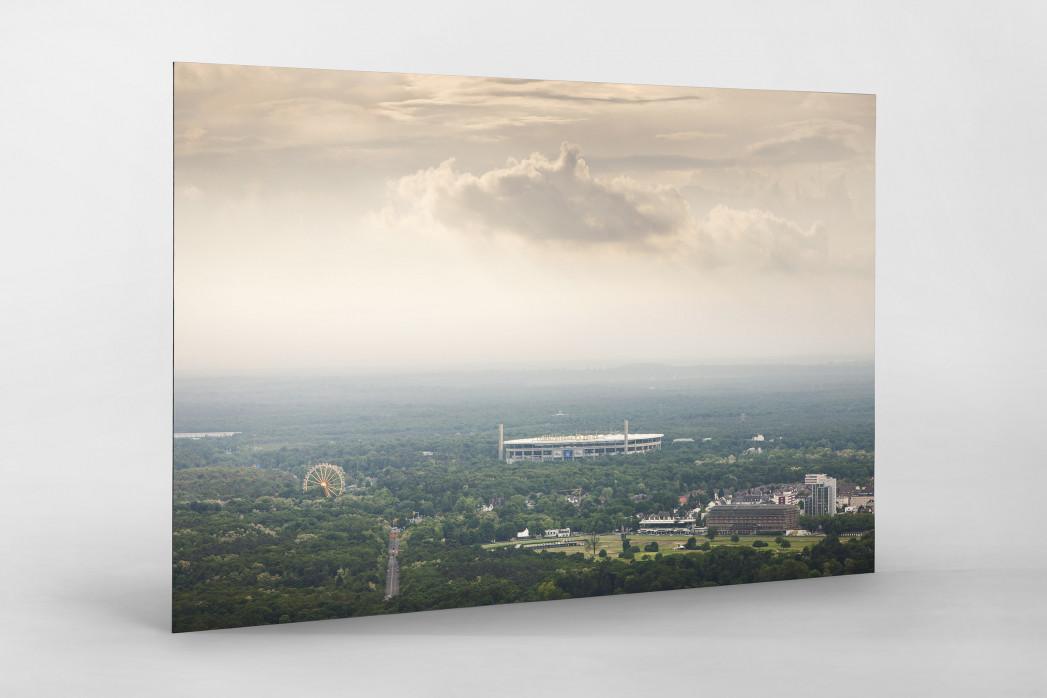 Frankfurter Arena im Stadtbild als auf Alu-Dibond kaschierter Fotoabzug