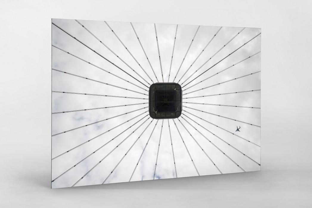 Frankfurter Videowürfel als auf Alu-Dibond kaschierter Fotoabzug