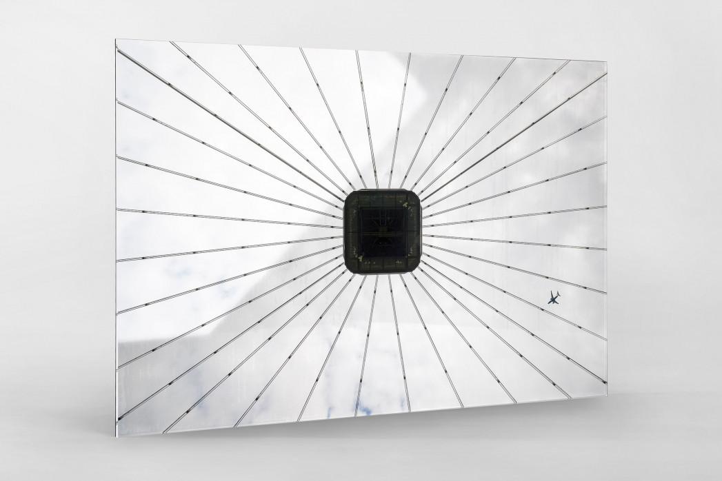 Frankfurter Videowürfel als Direktdruck auf Alu-Dibond hinter Acrylglas