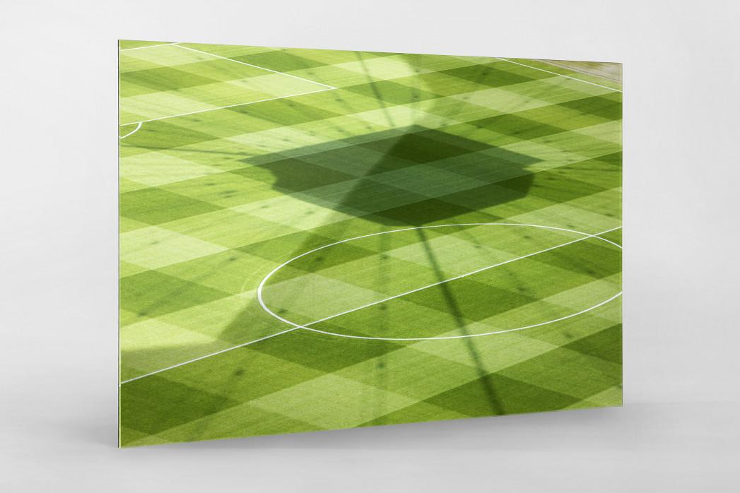 Frankfurter Videowürfelschatten als Direktdruck auf Alu-Dibond hinter Acrylglas