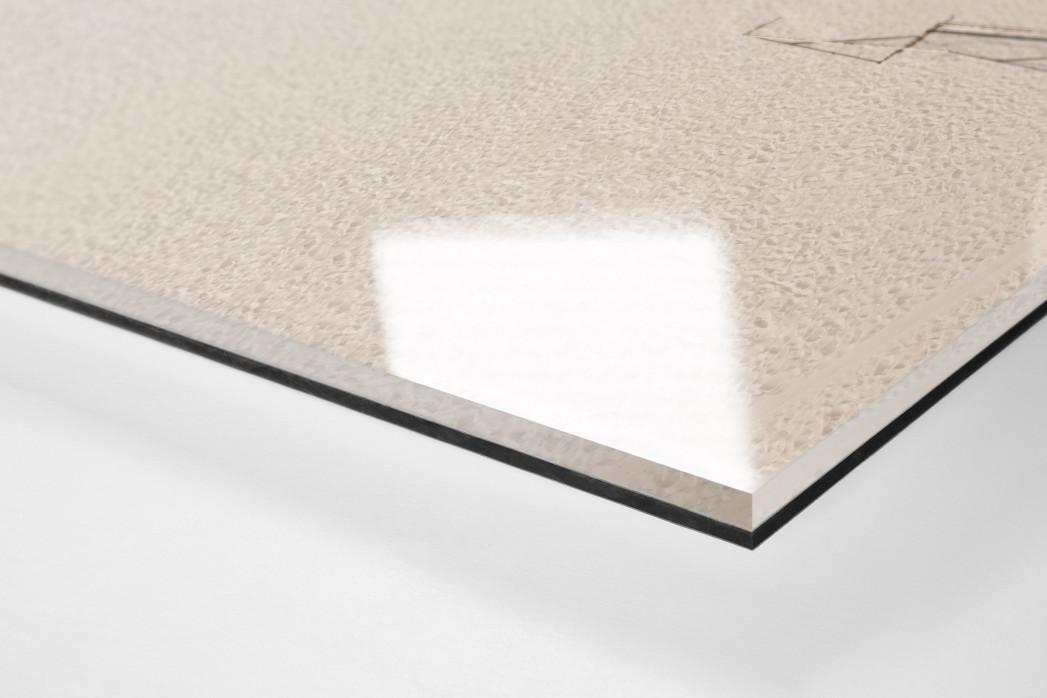 Kicken im Sand von Rio als Direktdruck auf Alu-Dibond hinter Acrylglas (Detail)