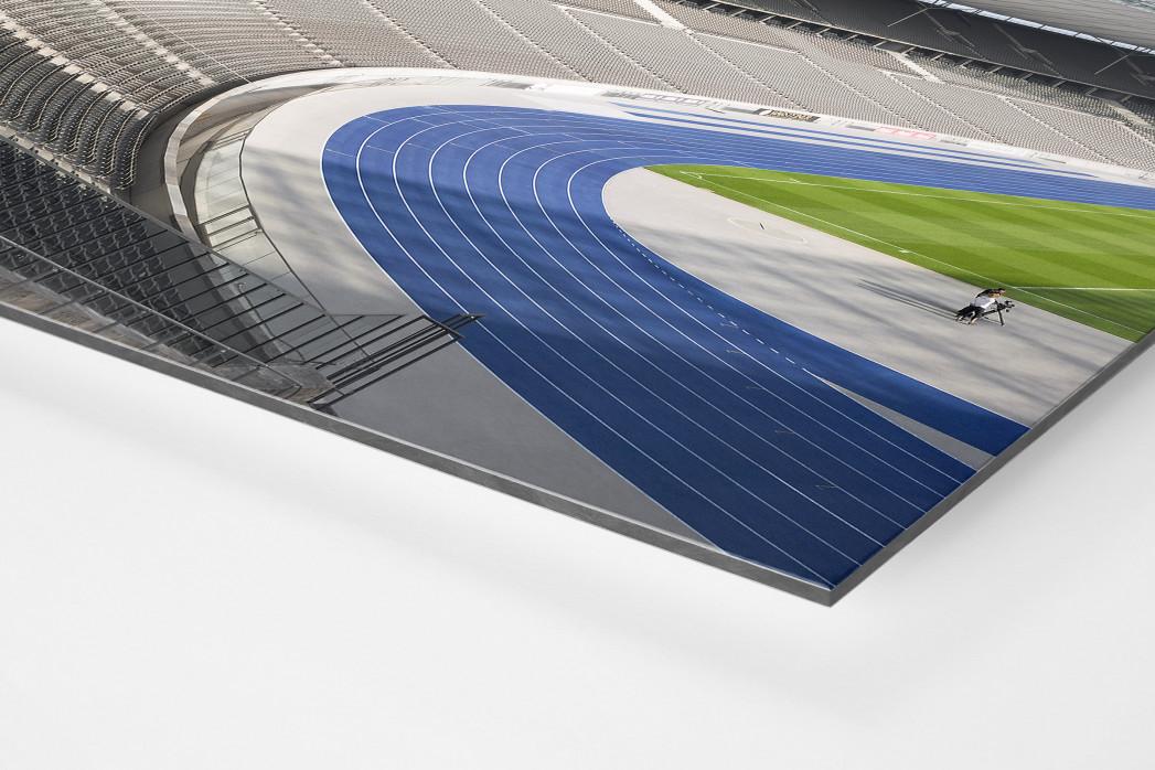 Kurve Olympiastadion als auf Alu-Dibond kaschierter Fotoabzug (Detail)