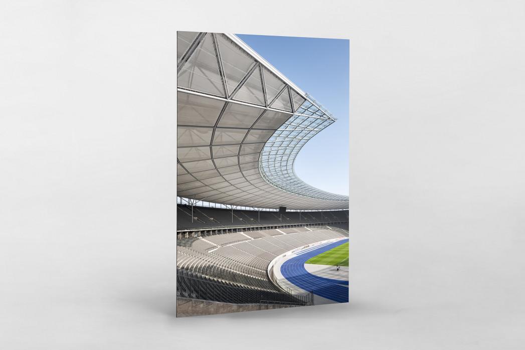 Kurve Olympiastadion als auf Alu-Dibond kaschierter Fotoabzug