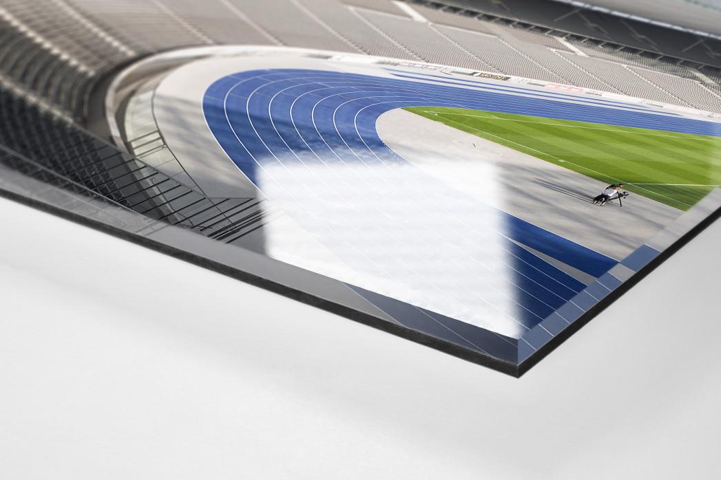 Kurve Olympiastadion als Direktdruck auf Alu-Dibond hinter Acrylglas (Detail)