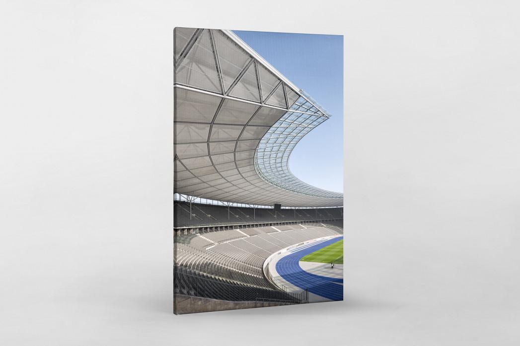 Kurve Olympiastadion als Leinwand auf Keilrahmen gezogen