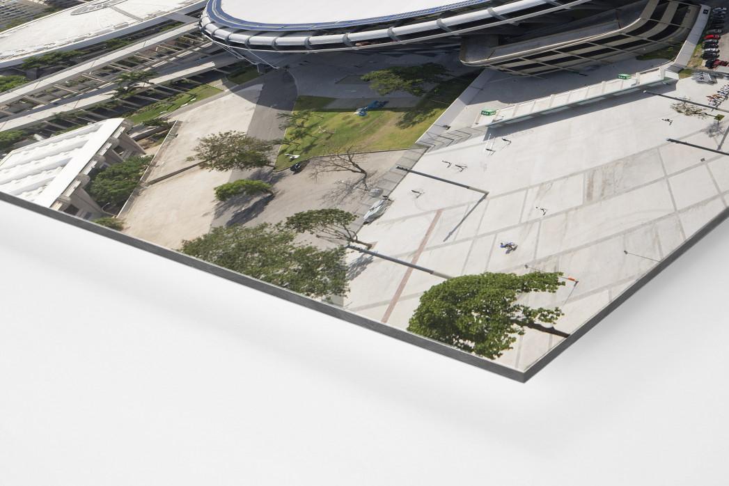 Maracana und Skyline Rio als auf Alu-Dibond kaschierter Fotoabzug (Detail)