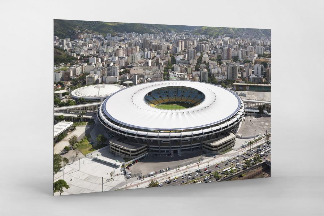Maracana und Skyline Rio als auf Alu-Dibond kaschierter Fotoabzug