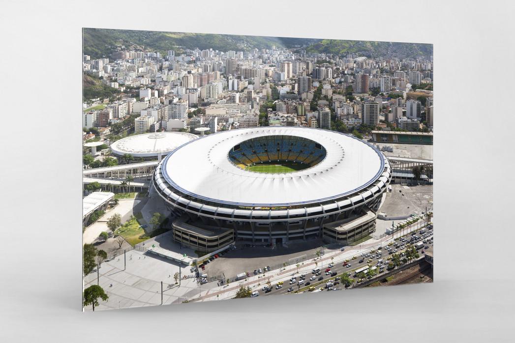 Maracana und Skyline Rio als Direktdruck auf Alu-Dibond hinter Acrylglas