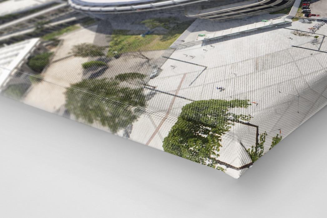 Maracana und Skyline Rio als Leinwand auf Keilrahmen gezogen (Detail)