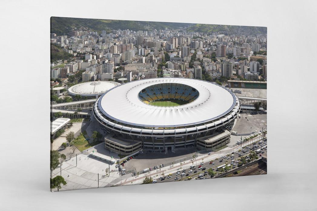 Maracana und Skyline Rio als Leinwand auf Keilrahmen gezogen
