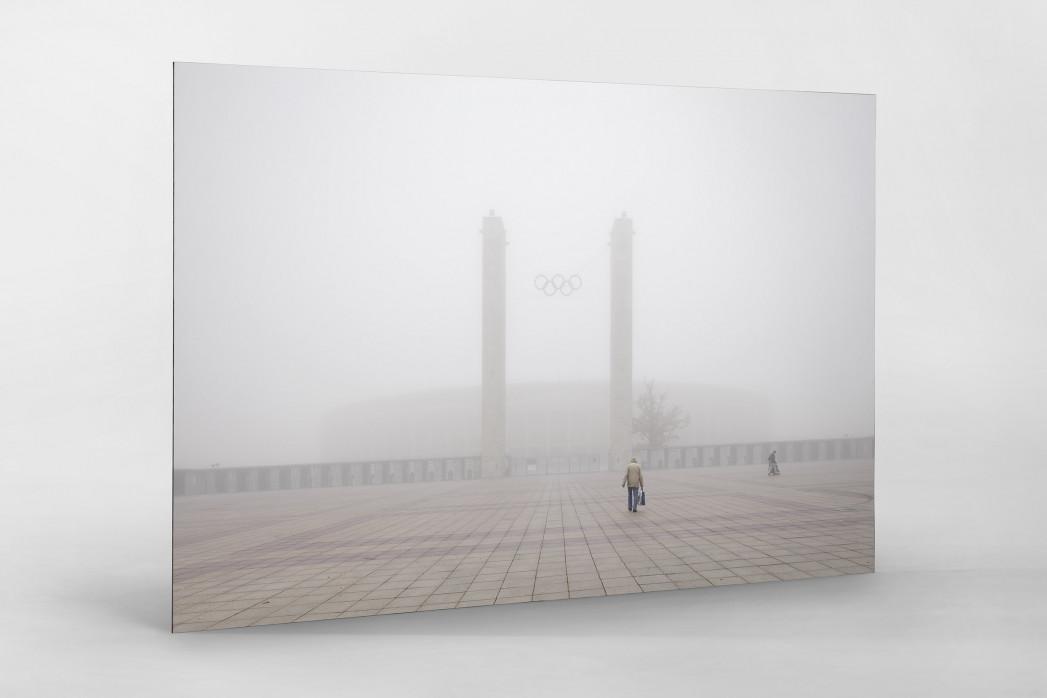 Nebel vor dem Olympiastadion als auf Alu-Dibond kaschierter Fotoabzug