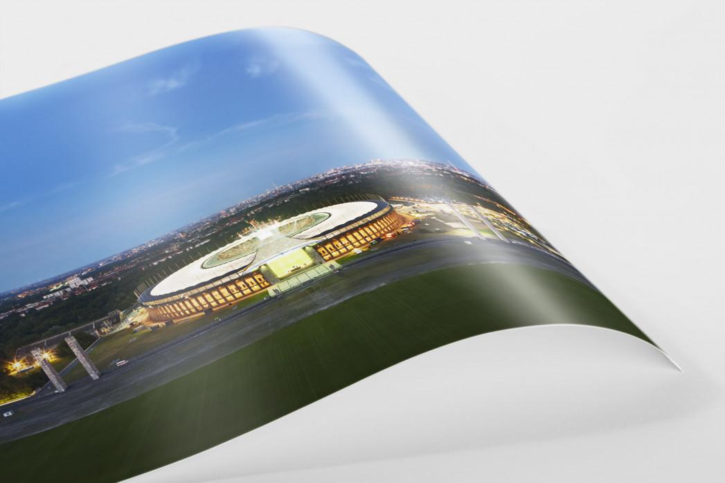 Olympiastadion und Berliner Skyline als FineArt-Print