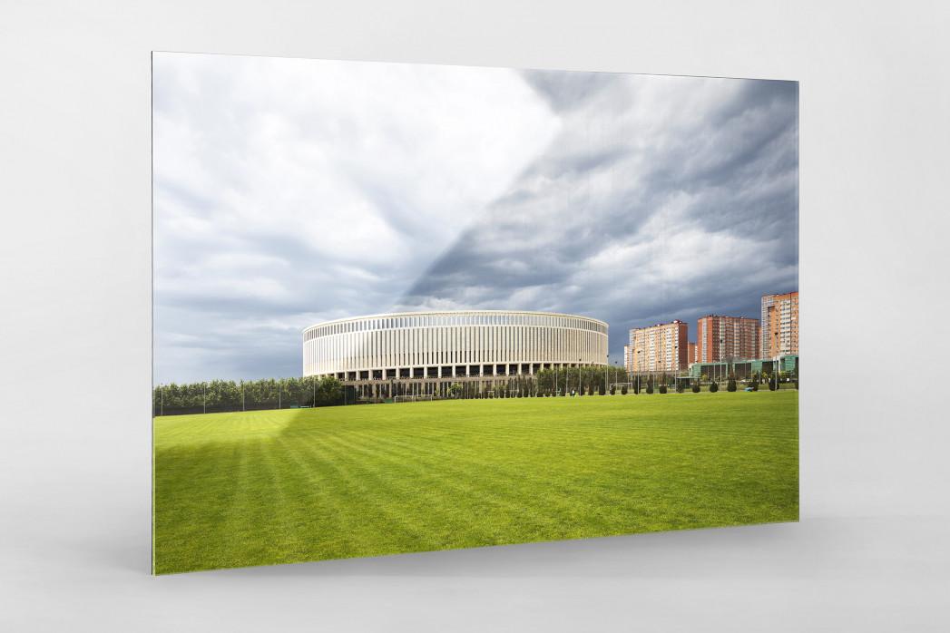 Vor dem Krasnodar Stadium als Direktdruck auf Alu-Dibond hinter Acrylglas