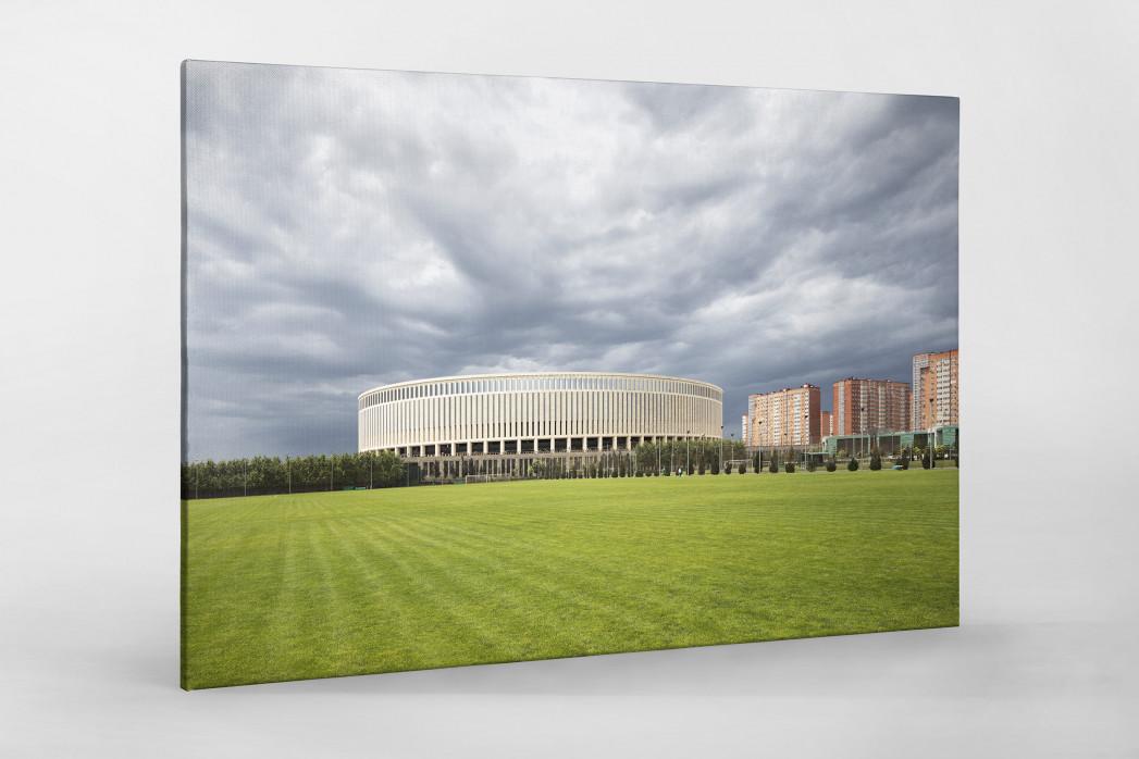 Vor dem Krasnodar Stadium als Leinwand auf Keilrahmen gezogen