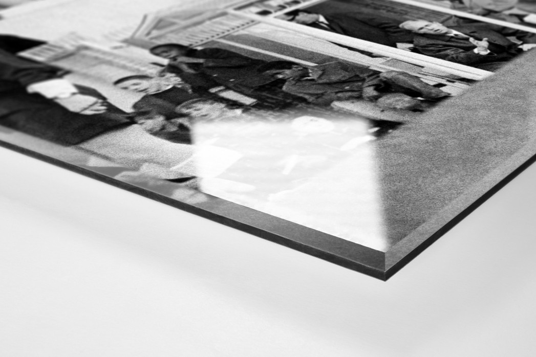 Momentaufnahme Highbury 1969 als Direktdruck auf Alu-Dibond hinter Acrylglas (Detail)