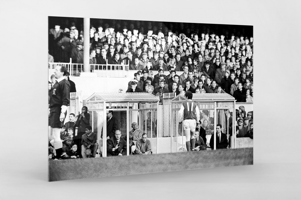 Momentaufnahme Highbury 1969 als Direktdruck auf Alu-Dibond hinter Acrylglas