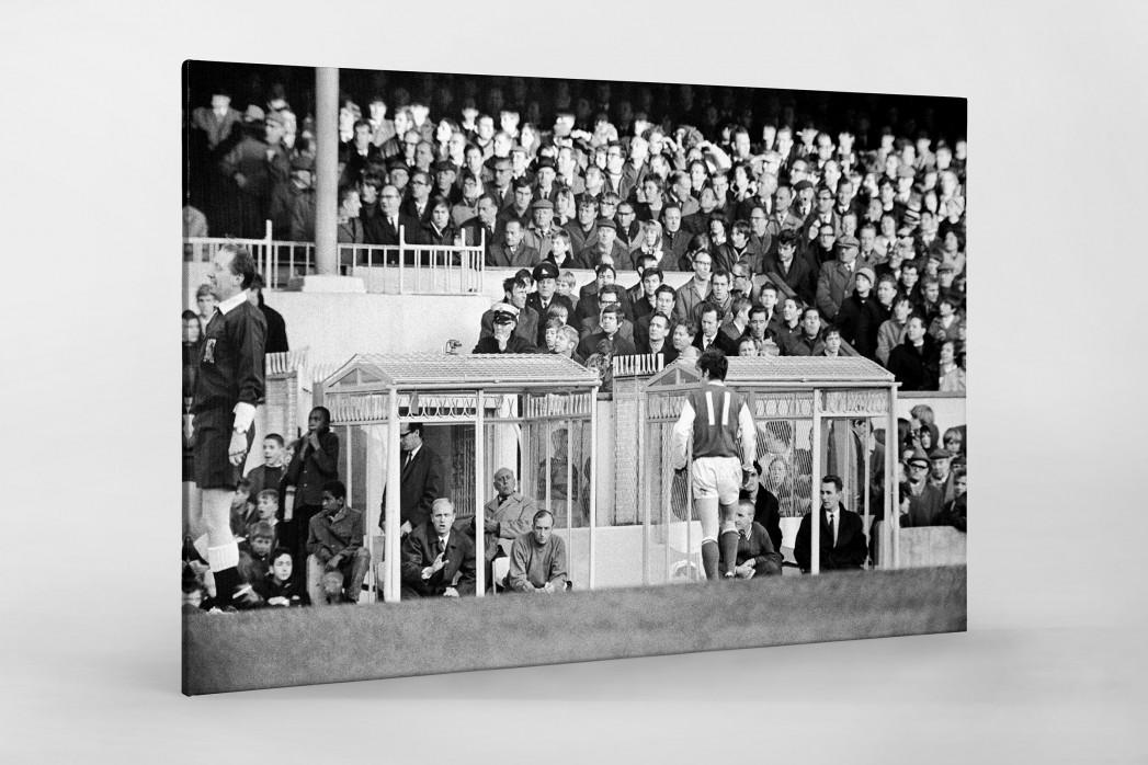 Momentaufnahme Highbury 1969 als Leinwand auf Keilrahmen gezogen