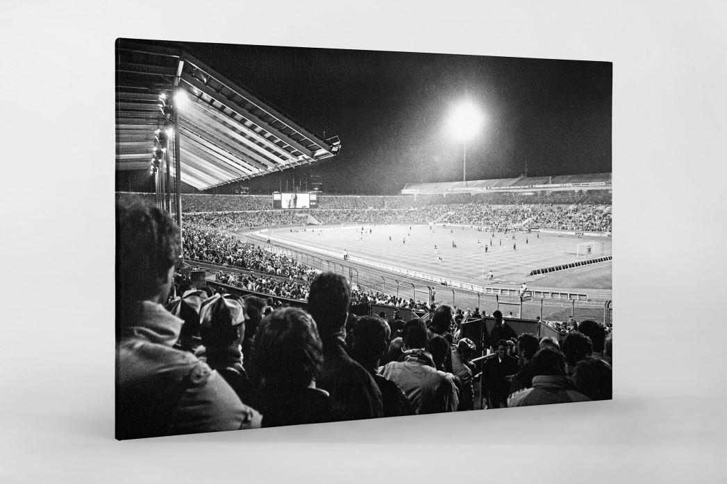 Neckarstadion 1989 als Leinwand auf Keilrahmen gezogen