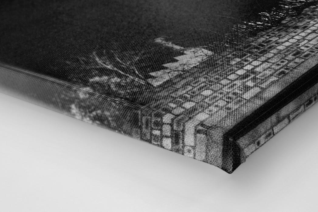Flutlichtmast Cliftonhill Stadium als Leinwand auf Keilrahmen gezogen (Detail)
