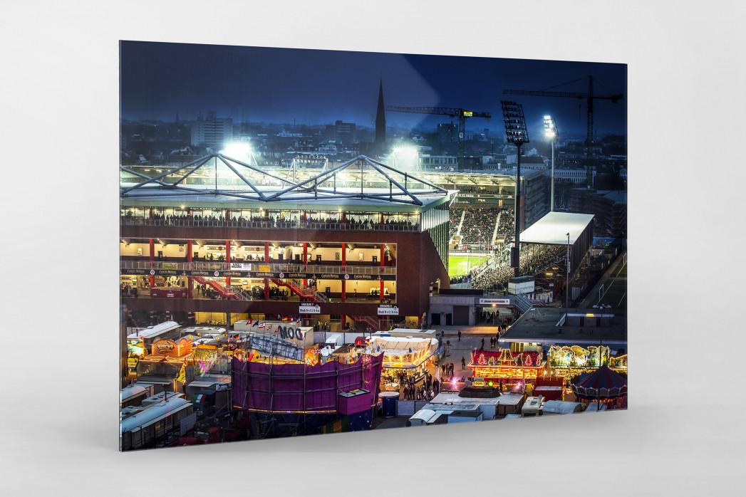 Millerntor und Hamburger Dom (3) als Direktdruck auf Alu-Dibond hinter Acrylglas