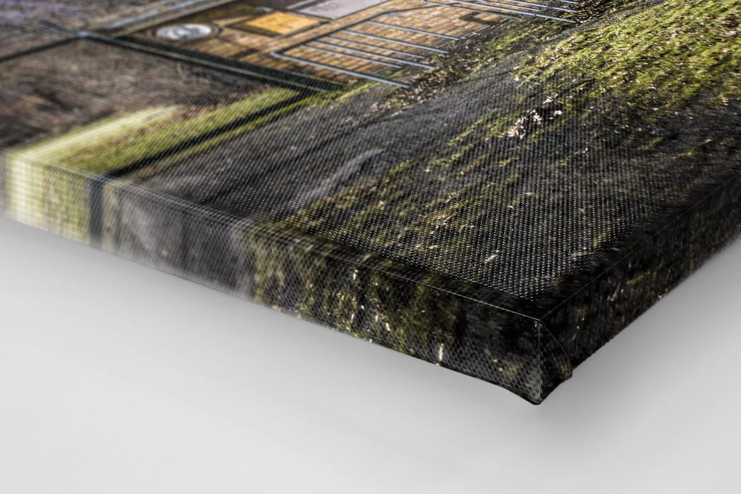 Kartenhäuschen Mommsenstadion als Leinwand auf Keilrahmen gezogen (Detail)