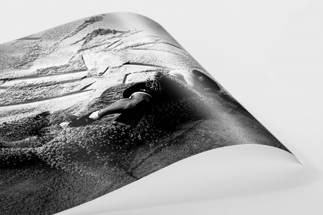 Weitsprung in Schwarzweiss als FineArt-Print