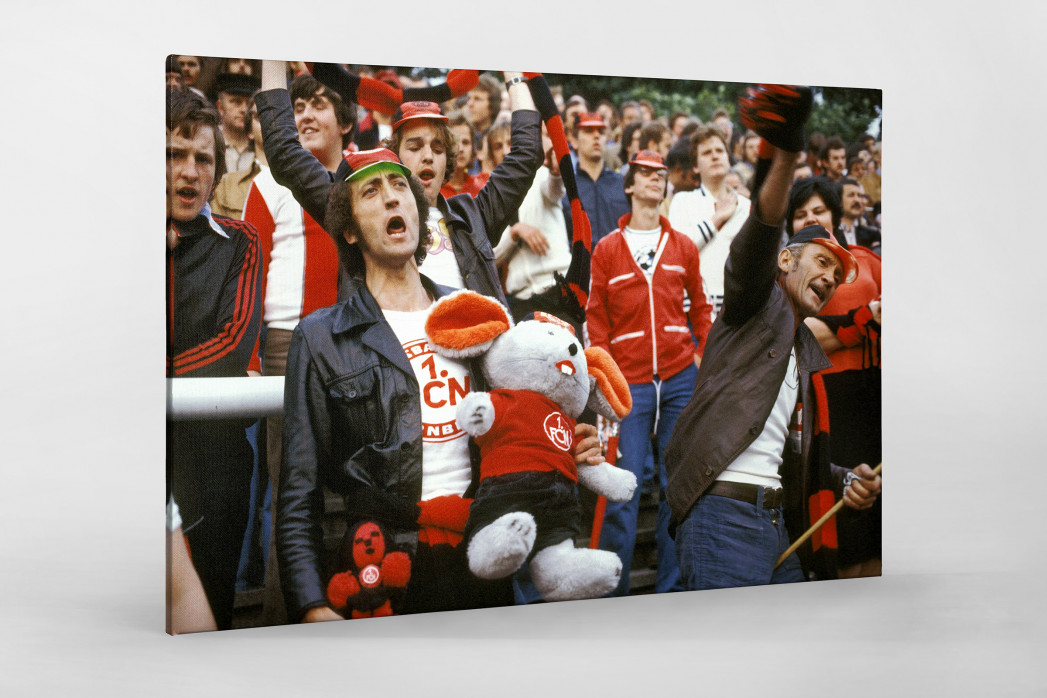 Club Fans 1978 als Leinwand auf Keilrahmen gezogen