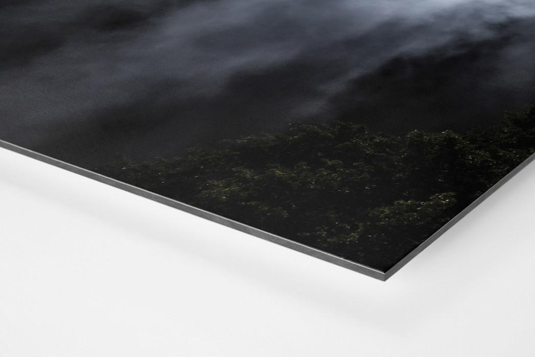 Mond, Flutlicht und Rauch als auf Alu-Dibond kaschierter Fotoabzug (Detail)