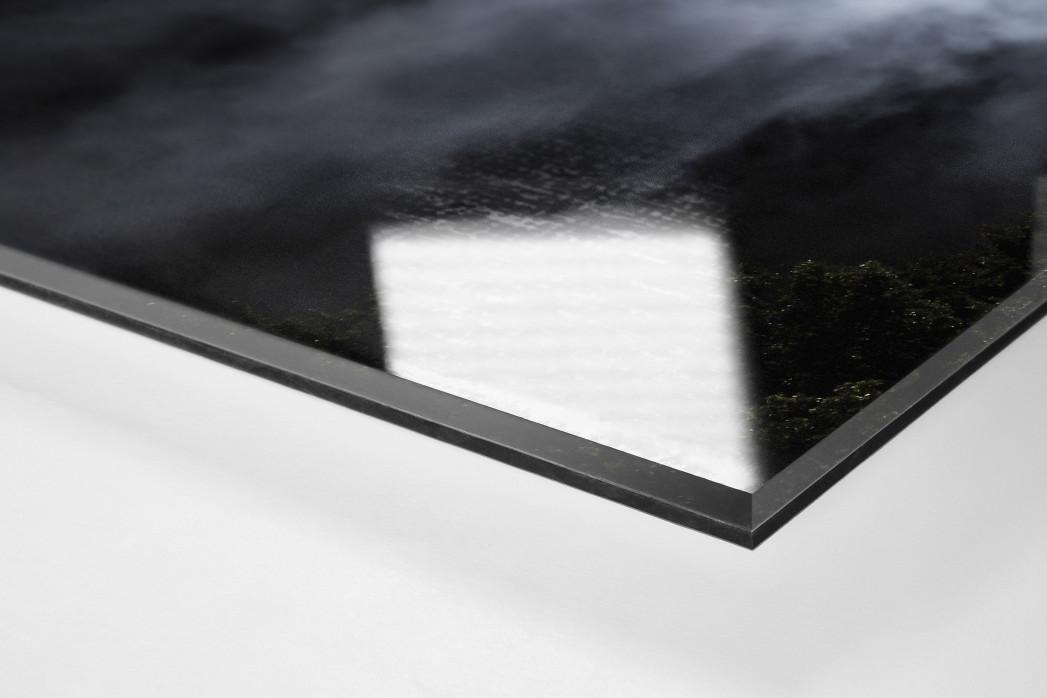 Mond, Flutlicht und Rauch als Direktdruck auf Alu-Dibond hinter Acrylglas (Detail)
