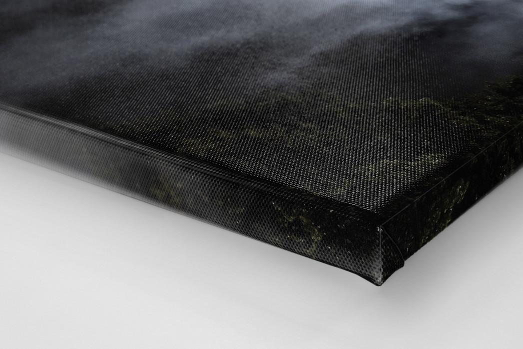 Mond, Flutlicht und Rauch als Leinwand auf Keilrahmen gezogen (Detail)