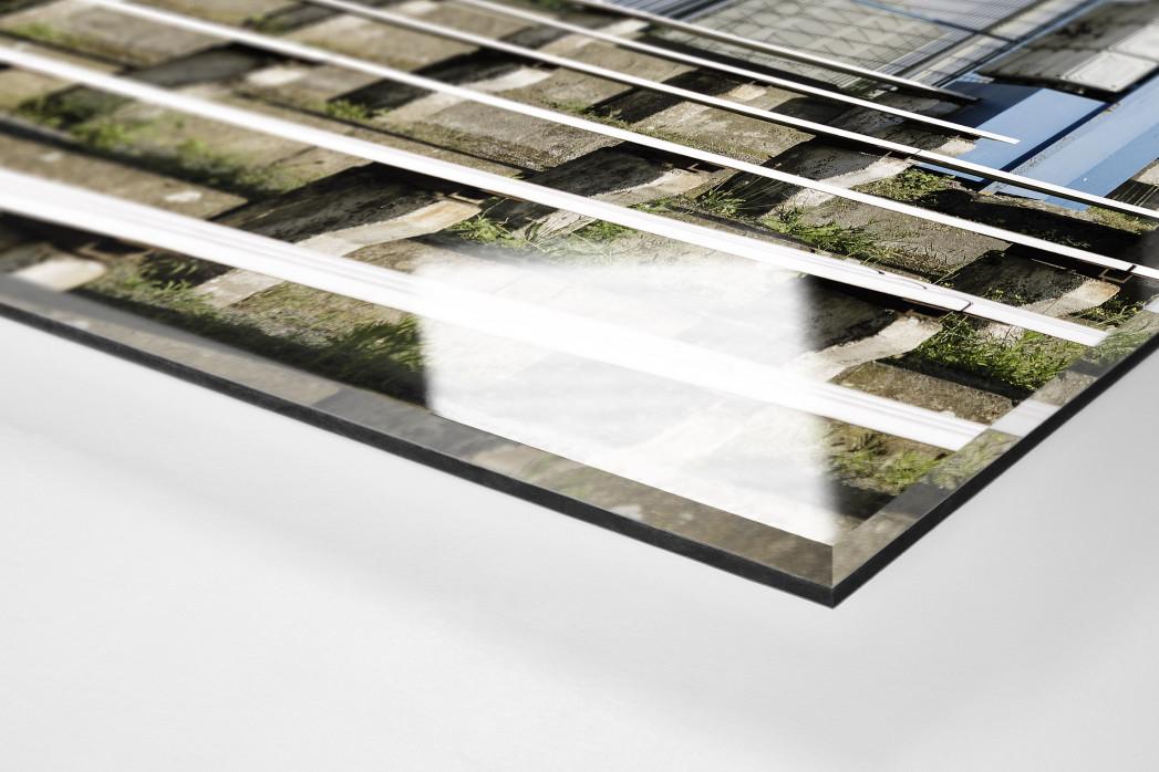 Anzeigetafel und Sprecherkabine bei Stahl Brandenburg als Direktdruck auf Alu-Dibond hinter Acrylglas (Detail)