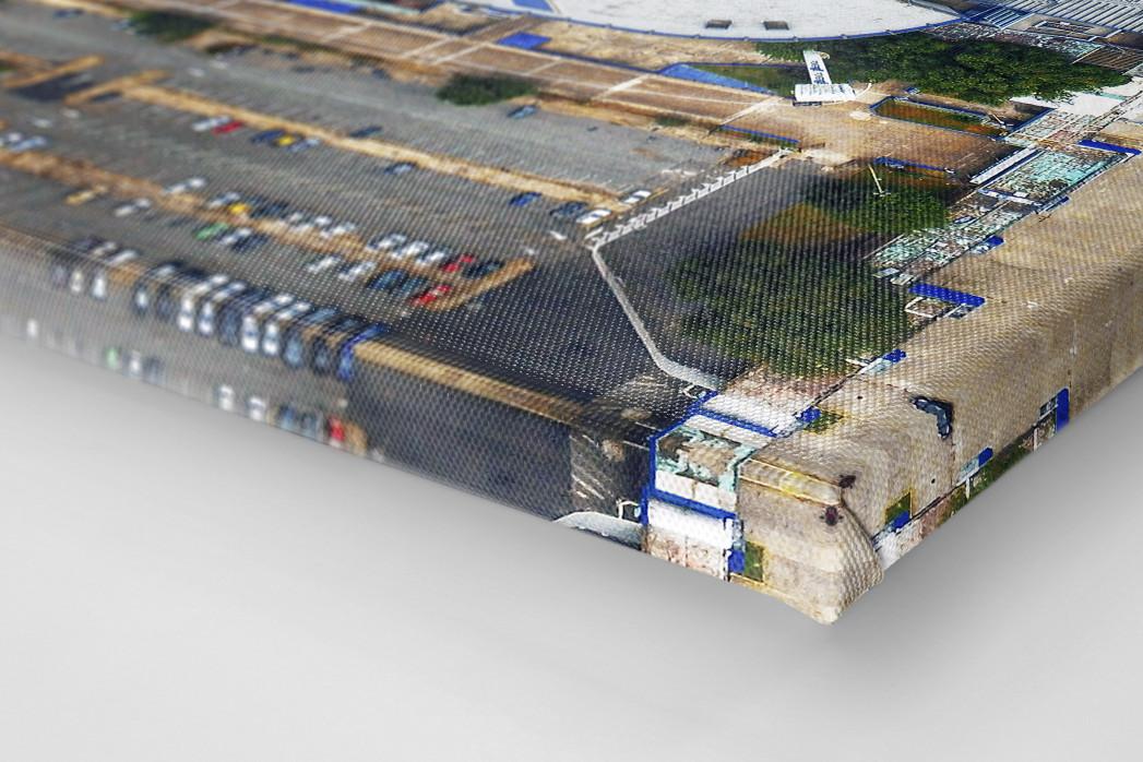 Vogelperspektive Estadio José Amalfitani als Leinwand auf Keilrahmen gezogen (Detail)