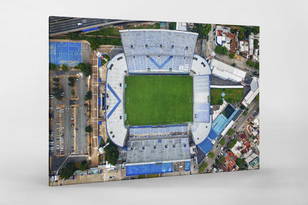 Vogelperspektive Estadio José Amalfitani als Leinwand auf Keilrahmen gezogen