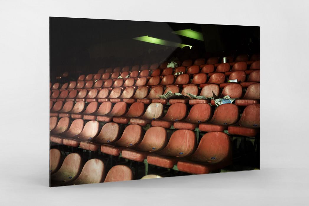 Schalensitze im San Paolo als Direktdruck auf Alu-Dibond hinter Acrylglas