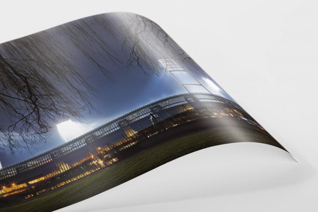 Weserstadion bei Flutlicht (Farbe-Querformat-2) als FineArt-Print